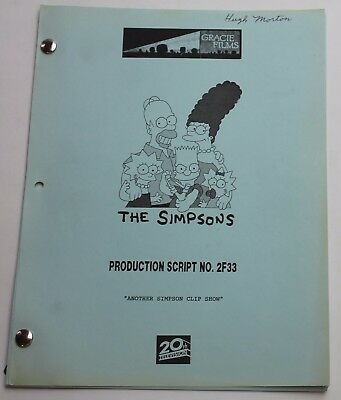 THE SIMPSONS / 1994 Original TV Show Script, Season 6 Episode 3