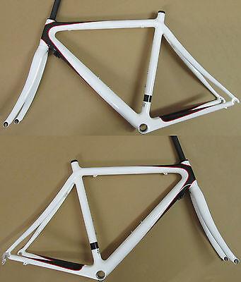 Intec C1 Carbon 12-K Rennrad Rahmen 1020gr. + Gabel 410gr. NEU Carbon-weiss 55cm
