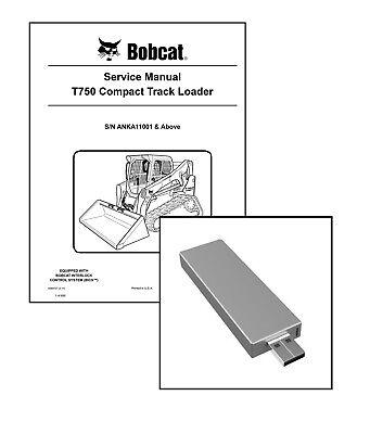 Bobcat T750 Compact Track Loader Workshop Service Manual Usb Stick Download