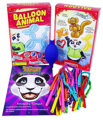 Balloon Animal University Qualatex 25 Balloons. Air Pump, Book and Video Series Balloon Animals Book
