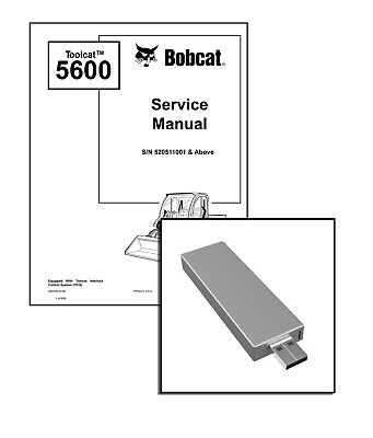 Bobcat Toolcat 5600 Utility Work Machine Workshop Service Manual Usb Stick Dl