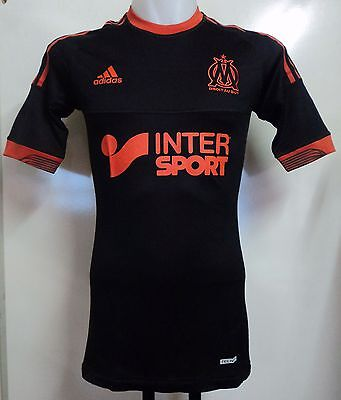 OLYMPIC MARSEILLE PLAYER ISSUE 2012/13 S/S TECHFIT 3RD SHIRT BY ADIDAS XL