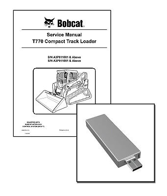 Bobcat T770 Compact Track Loader Workshop Repair Service Manual Usb Stick Dl
