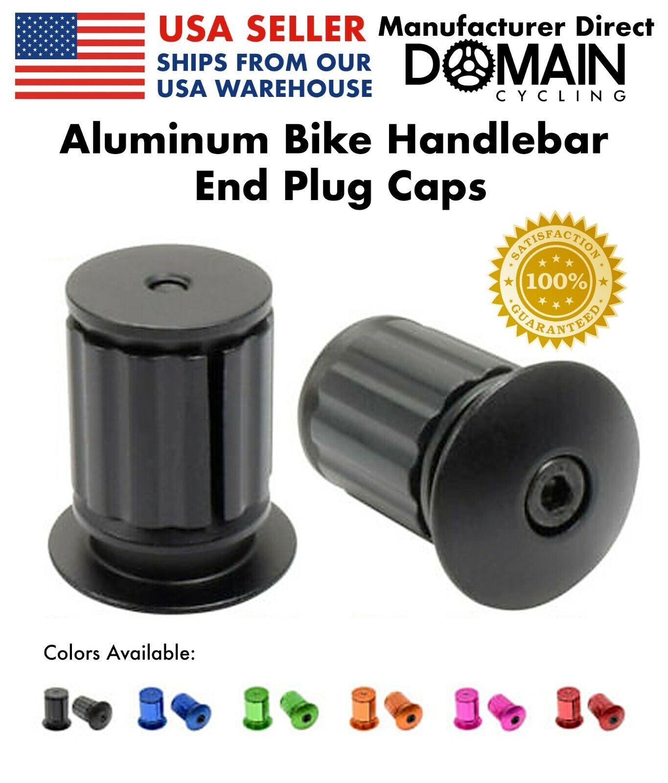 1 Pair Bicycle End Plugs Caps Rubber Bike Handlebar Grips Black Handle Covers
