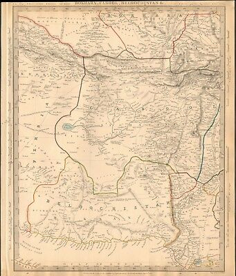 1838 ANTIQUE MAP- SDUK - AFGHANISTAN, BOKHARA, KABUL, BELOOCHISTAN