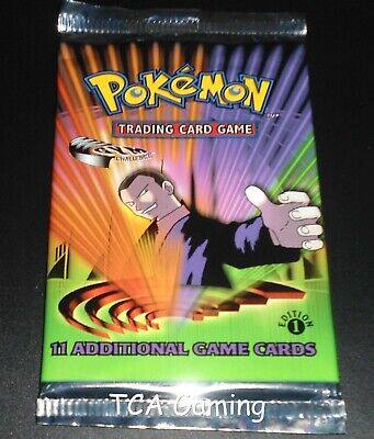 SEALED Gym Challenge 1ST EDITION Booster Pack (Giovanni Art) Pokemon Card LIGHT