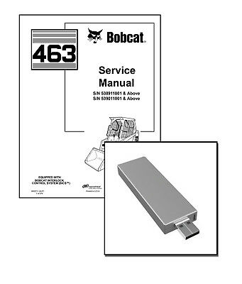 Bobcat 463 Skid Steer Loader Workshop Service Repair Manual Usb Stick