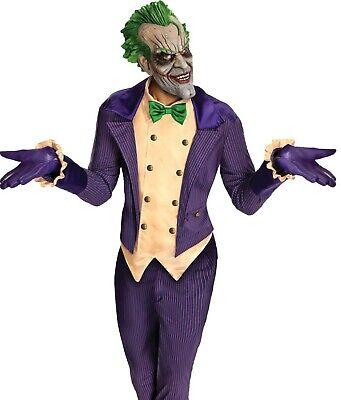 Adult Mens Deluxe The Joker Costume Super Villain Batman Arkham