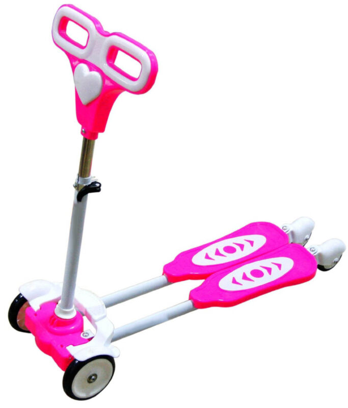Four Wheel Scooter for kids Pink frog motion back wheels with light new model …