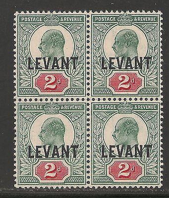 British Offices Levant #18 (SG #L4) VF MNH BLOCK 4 - 1905 2d King Edward VII