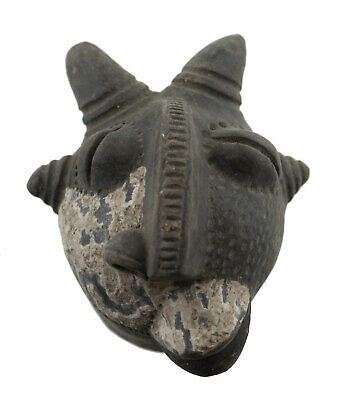 Masquette Votive Terracotta Disease Healing Mask Fetish Art African 6458