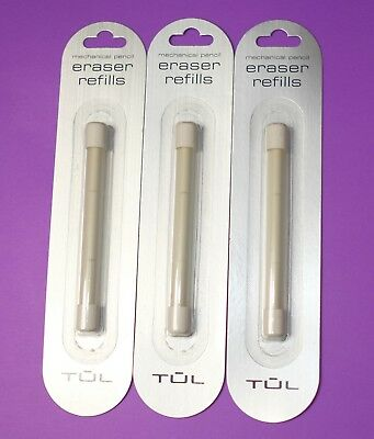 3 Pack Of 3 Tul Eraser For Mechanical Pencil Refill New