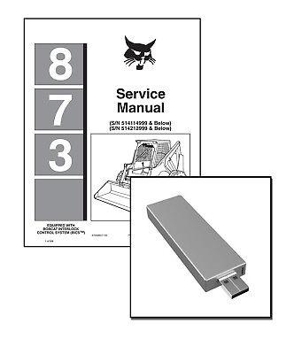 Bobcat 873 Skid Steer Loader Workshop Service Manual On New Usb Stick