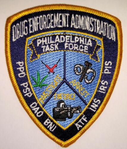 Philadelphia Pennsylvania Police DEA Task Force Patch // FREE US SHIPPING!