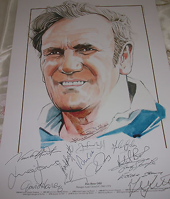 QUALITY LEEDS UNITED16x12 DON REVIE STATUE PRINT SIGNED15 HARVEY/CLARKE//HUNTER