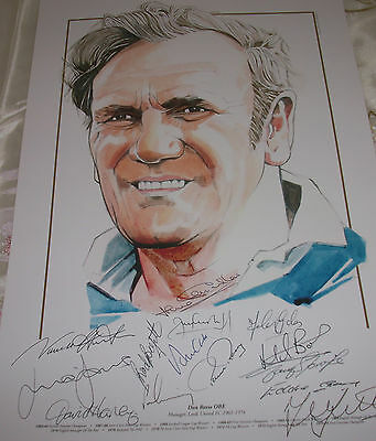 QUALITY LEEDS UNITED16x12 DON REVIE STATUE PRINT SIGNED16 HARVEY/CLARKE//HUNTER