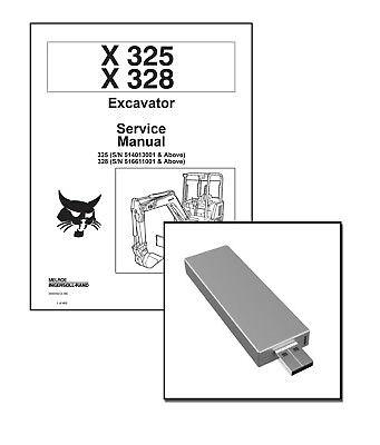 Bobcat X325 X328 Excavators Workshop Repair Service Manual Usb Stick Download