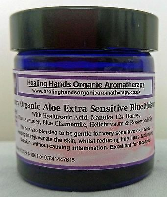 Organic Maximum Lift Blue Cream + Hyaluronic Acid, Manuka, Q10 & Retinol -60ml