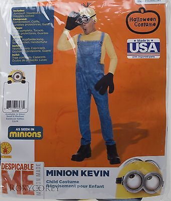 Halloween Despicable Me Minion Kevin Jumpsuit Costume Size Small 4-6 NIP