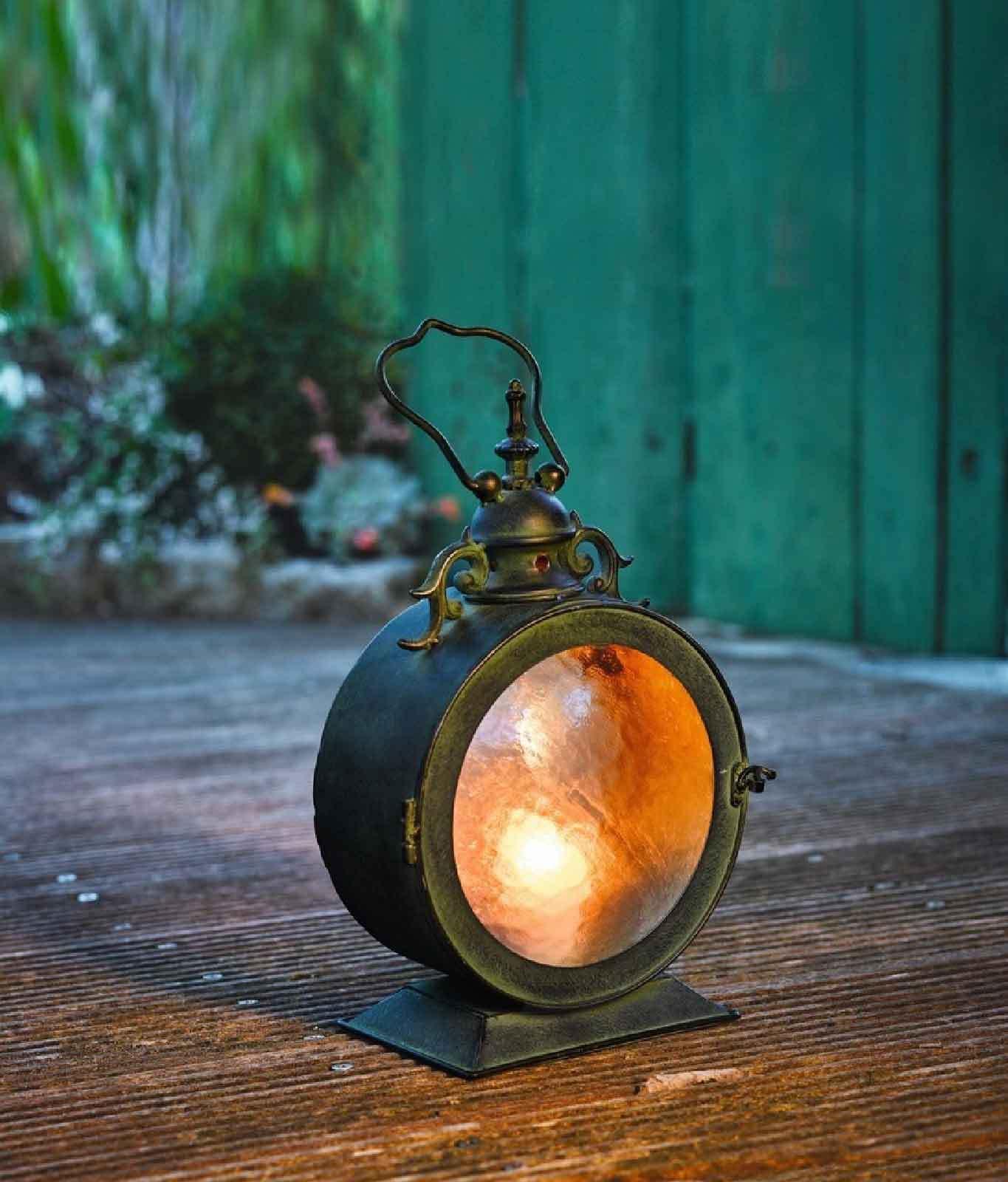 Metall Laterne Bullauge Windlicht Kerzenhalter Gartenlaterne Gartenlampe Deko