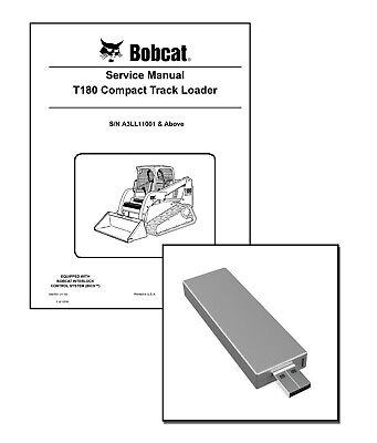Bobcat T180 Compact Track Loader Workshop Service Manual Usb Stick Download