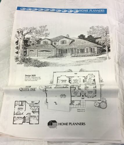Blueprints House Plans Home Planners Inc. 2,875 square feet Design 3635