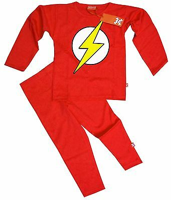 Ethical Kids Childrens Boys Girls The Flash Bazinga Pyjamas Pajamas (Red)](Cheap Girls Pjs)