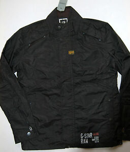 New G Star Raw LARGE 'NEW RECOLITE NYLON OVERSHIRT' COTTON JACKET MENS BLACK L