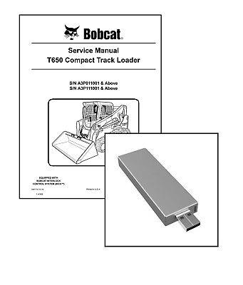 Bobcat T650 Compact Track Loader Workshop Service Manual Usb Stick Download
