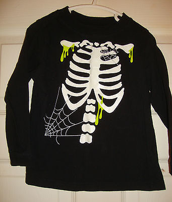 HALLOWEEN~boys~SKELETON/w/SPIDER/WEBS/&/GREEN/OOZE/TOP! (3T) BRAND/NEW! @@ CUTE!