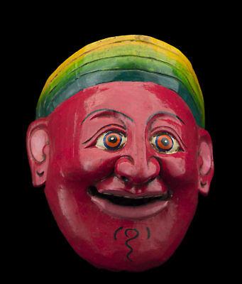 Small Mask nepalese Protector red Shaman ancestor Himalaya Tibet 26110 B9