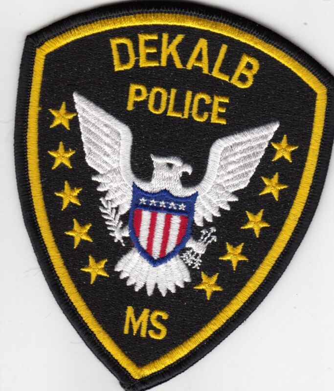 DEKALB POLICE SHOULDER PATCH MISSISSIPPI MS