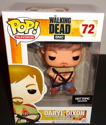 THE WALKING DEAD 2013 FUNKO POP #72 HOT TOPIC EXCLUSIVE DARYL DIXON IN PONCHO (Daryl Poncho)