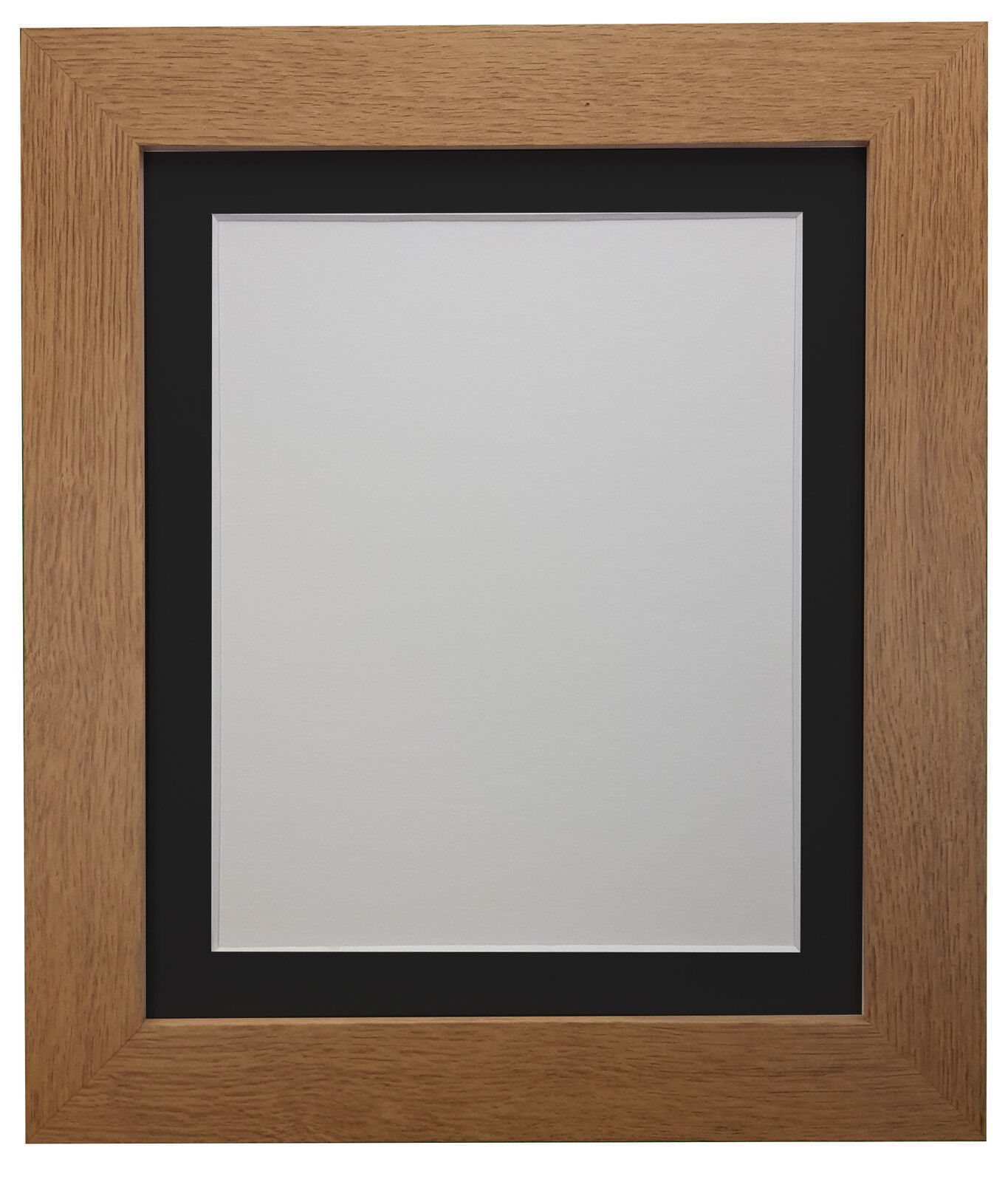Black /& White Photo Picture Frames with Acid Free Light or Dark Grey Mount MDF
