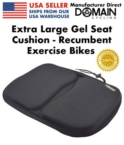 EXTRA LARGE Recumbent Exercise Bike Gel Seat Cushion Cover Stationary Bicycles