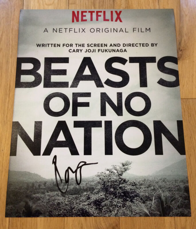 IDRIS ELBA SIGNED 11X14 PHOTO PROOF COA AUTOGRAPHED BEASTS OF NO NATION
