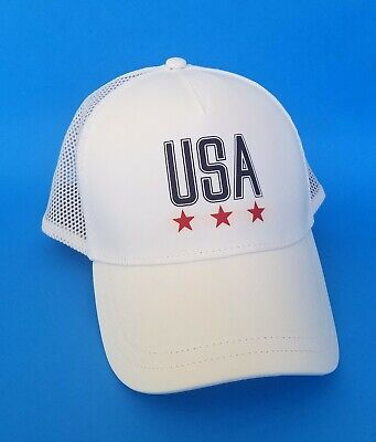Under Armour USA Women's Snapback Mesh Baseball Cap Hat