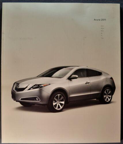 2011 Acura 36pg Catalog Brochure RL TL TSX MDX RDX ZDX Excellent Original 11