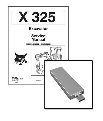 Bobcat X325 Excavator Workshop Repair Service Manual Usb Stick Download