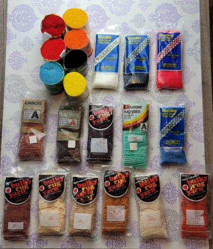 Vintage Caron/Bucilla LATCH HOOK RUG YARN packs-You Pick-Buy More Save More NOS