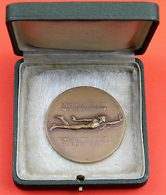 Gordon Bennett Freiballon Wettfahrt Stuttgart 1912 Bronze Medaille L. Habich