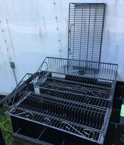 LOT of 3 Wire Basket Shelves 21 x 10 x 5 shelf shelving hanging
