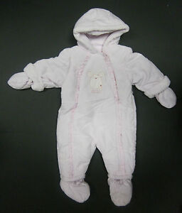 Baby girls / boys snowsuit coat ex Mothercare newborn 3 6 9 12 months *RRP £30+*