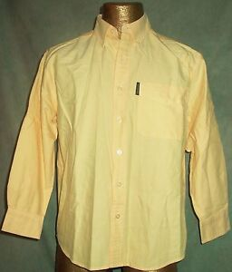 Abercrombie Fitch Boys L Long Sleeve Yellow Casual Dress