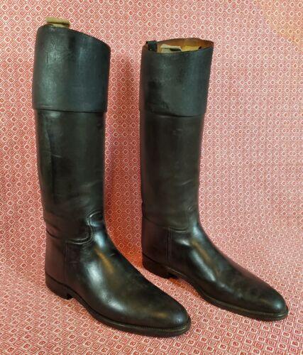 Antique Peal English Riding Boots & Thomas Tree Last Issac Clothier Equestrian