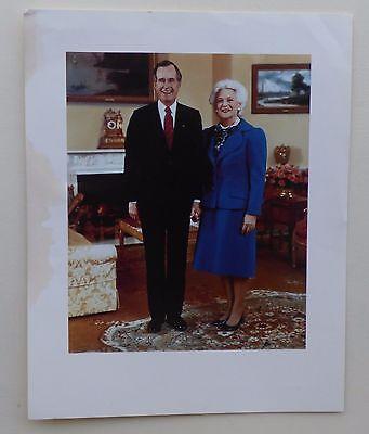 President George Bush   First Lady Barbara Bush Photograph From 1990