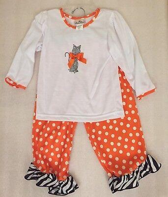 NEW Laura Dare Toddler Girl Halloween Cat Long Sleeve 2pc PJ Set Size 3T NWT](Laura Dare Halloween)