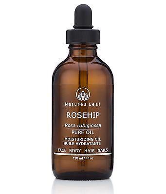 Rosehip Seed Oil, 100% Pure, Organic, Virgin Cold Pressed - 4 fl oz