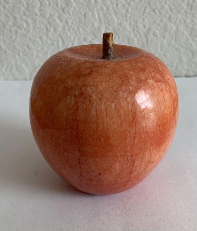 Stone Fruit Apple Mid Century Alabaster, Beautiful