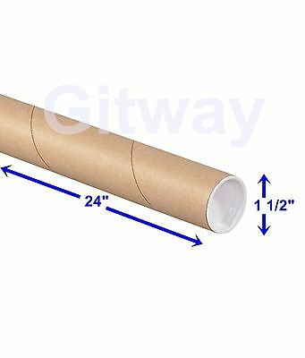 1 12 X 24 Cardboard Poster Shipping Mailing Mail Packing Postal Tube 50 Tubes